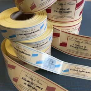 Impression d'étiquettes en rouleaux
