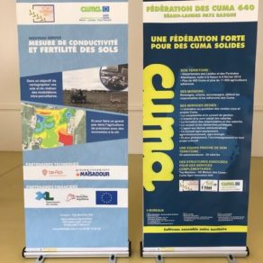 Impression roll-up dans les Landes