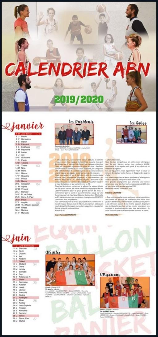 Création calendrier pour les écoles et associations landaises
